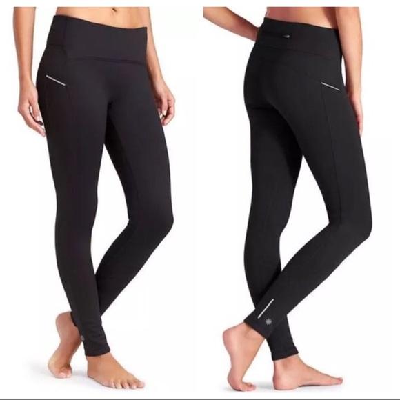 df6a32c560e57 Athleta Pants | Power Life Fleece Lined Leggings Large | Poshmark